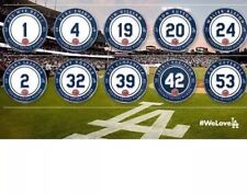 NEW 2016 MLB LOS ANGELES DODGERS RETIRED NUMBERS  PIN Set  SGA