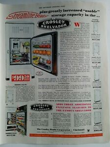1934 Crosley Shelvador and tri shelvador refrigerator vintage appliance ad