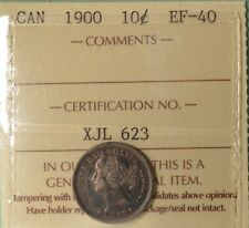 1900 Canada Silver 10 cents - Graded ICCS EF-40 - serial #XJL 623
