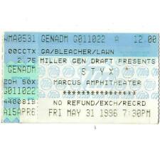 STYX Concert Ticket Stub MILWAUKEE 5/31/96 MARCUS AMPTHITHEATRE MR. ROBOTO Rare