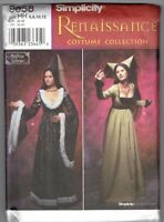 Renaissance Medieval Dress Hat Costume Sz 6-12 Simplicity 9058 Sewing Pattern