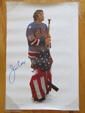 Goalie JIM CRAIG signed 1980 GOLD MEDAL winning US OLYMPIC HOCKEY TEAM Poster