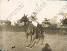 1938 Polo Player Robert Hassler on Former Prince Wales horse Polley Press Photo