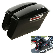 Vivid Hard Saddle Bags Trunk W/ Latch keys For Harley Touring Models 2014-2018