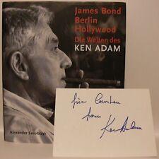 Ken Adam James Bond Buch original signed signiert autograph Signatur Autogramm