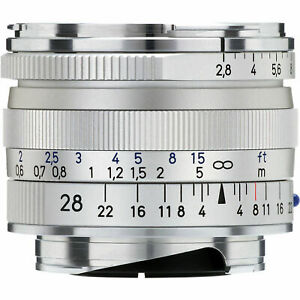 New Carl Zeiss Biogon T* 28mm F2.8 ZM Wide Angle Lens Silver Leica M M9 M8.2