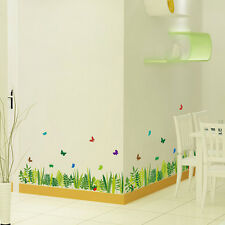 Grass Butterfly Wall Stickers Removable  Mural Home Decal Vinyl Decal