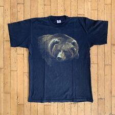 Vintage 90s Grizzly Bear Animal Alstyle T Shirt Black Large L Vtg Wildlife