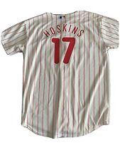 New listing Rhys Hoskins Philadelphia Phillies Majestic Youth L Jersey