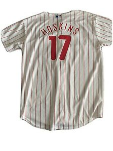Rhys Hoskins Philadelphia Phillies Majestic Youth L Jersey