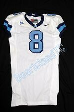 Game Used Worn UNC Tar Heel NIKE Football Jersey Sz 50 WHITE #8 North Carolina