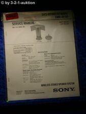 Sony Service Manual SRS RF80R /RF80RK /TMR RF80 Active Speaker System (#4942)