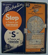 carte MICHELIN 85 BIARRITZ - LUCHON - 1937