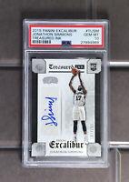 2015 Panini Excalibur Treasured Ink Jonathon Simmons Spurs 187/299 PSA 10