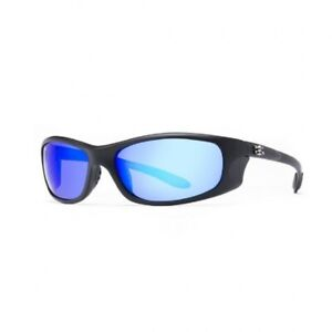 Calcutta Polarized Los Carbos Sunglasses Black/Blue Mirror Lens LC1BM