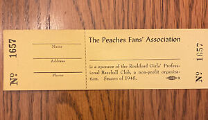 Rockford Peaches Game/Raffle Ticket