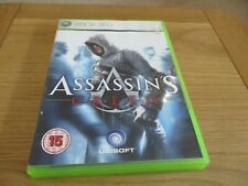 XBOX 360 GAME, ASSASSINS CREED, WITH INSTRUCTION BOOK AND ORIGINAL CASE