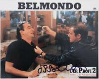 Jean-Paul Belmondo - original Autogramm auf Aushangfoto * Der Profi 2