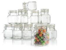 Hinged Lid Jars Set Glass Leak Proof Kitchen Herbs Spices Gift Holder 12 Pack