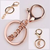 Unisex Gold Silver Key Chains Ring Parts Bag Charms Car Keyring Keychain Trinket