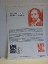 M*  Document philatélique 1er jour  * Gustave DORÉ * Contes de Perrault