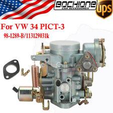 Carburetor Carb Fit 1969-79 VW Beetle 1600cc Air Cooled Type1 Engines 34 PICT-3