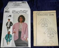 NEW Simplicity 8176 Misses Very Loose-Fitting Unlined JACKET Pattern Sz Medium