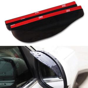 Rear view Side Mirror Rain Board Eyebrow Cover Shield Sun Visor Shade 2pcs USA