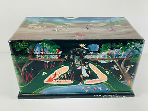 Folk Art 1991 Jessie Cooper Box of Good and Evil Heaven Angels Hell Devil ronald