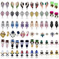 1 Pair Fashion Women Luxury Crystal Rhinestone Ear Stud Earrings Jewelry Charm