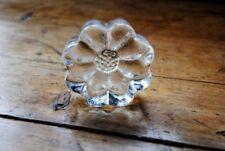 Flower Clear Art Glass