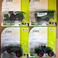 Trecker Traktor Mähdrescher Ernte Landwirtschaft Spielzeug 4 Fahrzeuge Set