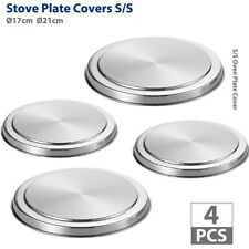 4Pcs Stainless Steel Kitchen Stove Top Burner Covers Cooker Protection Cover Kit