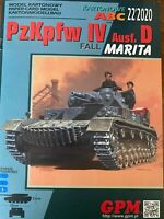 GENUINE PAPER-CARD MODEL KIT - German tank PzKpfw IV Ausf.D Fall Marita