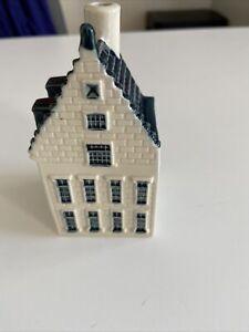 KLM Blue Delft Bols Miniature Houses Amsterdam Number 77 (empty)