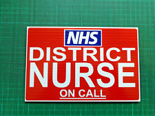 DISTRICT NURSE ON CALL DASHCARD Medic Paramedic FIRST RESPONDER COMMUNITY