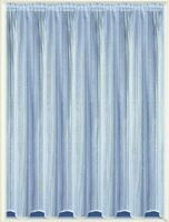 TEXTURED VERTICAL STRIPE THICK WHITE MAREKCH NET CURTAIN SOLD BY THE METRE