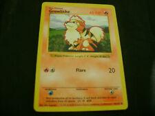 Pokemon Card Shadowless Growlithe 28/102 1999 WOTC Vintage Base Set