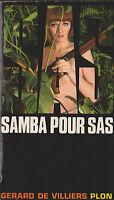 Livre de poche policier SAS samba Pour sas G. de Villiers book