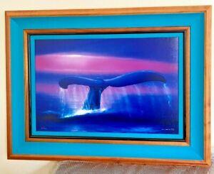 Robert WYLAND - A New Millennium Whale Tail  Artist Proof- 9/200 - Framed