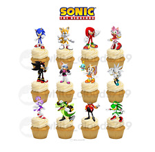 12 Sonic the Hedgehog Birthday Cupcake Cake Toppers Food Picks Favor Party Kids