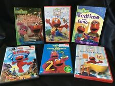 Elmo 6 DVD Collection!  Christmas, Numbers, Bath Time, Bed Time, Summer Vacation