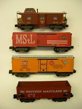 Lot of 4 American Flyer Knuckle Coupler Freight Cars [Lot KK10-F22]