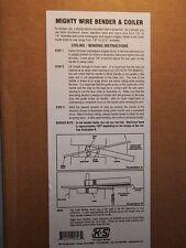 "K & S Metals 326 - Mighty Wire Bender & Coiler Bends from 1/8"" to 3/16"" Diameter"