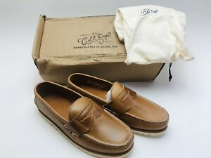 Sperry Men's Gold Cup Handcrafted in Maine Penny Loafer Tan Size 10.5 M