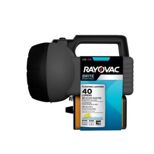 Rayovac Brite Essentials 40 lumens Black LED Floating Lantern BELN6V-BTA