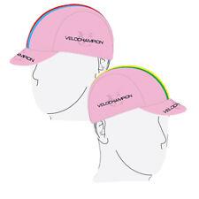 VeloChampion Cycling Cap Tech Pink World Champs Black Band Sport Hat Visor Bike