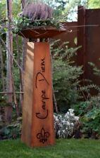 Deko Säule Carpe Diem   Edelrost Metall Rost Pflanzschale Garten Gartendeko