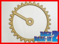 MDF Wooden Shapes Cogs 150mm High 3mm Thick Custom Cut x 5 pieces