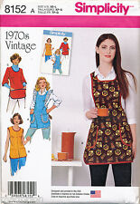 SIMPLICITY SEWING PATTERN 8152 MISSES SZ 6-20 VINTAGE/RETRO STYLE, 1970s APRONS